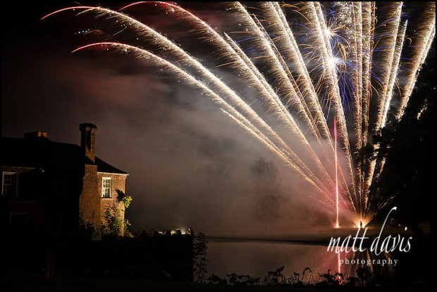 Birtsmorton court wedding fireworks