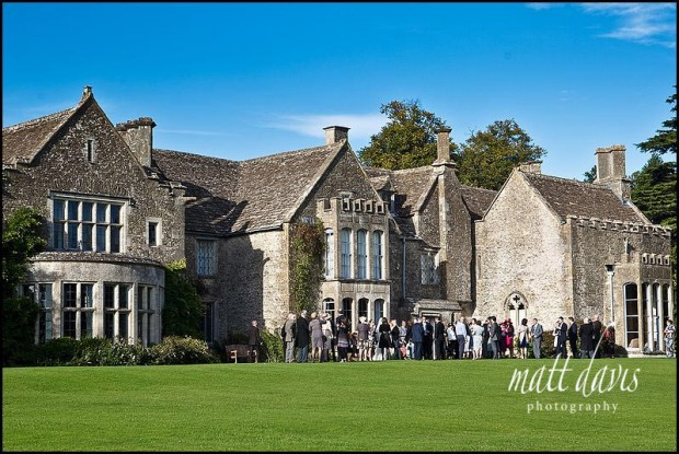 Outside at Chavenage House wedding venue