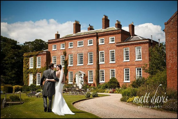 Delbury Hall wedding couple photo