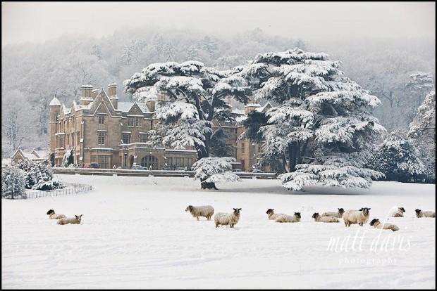 Dumbleton Hall winter wedding venue