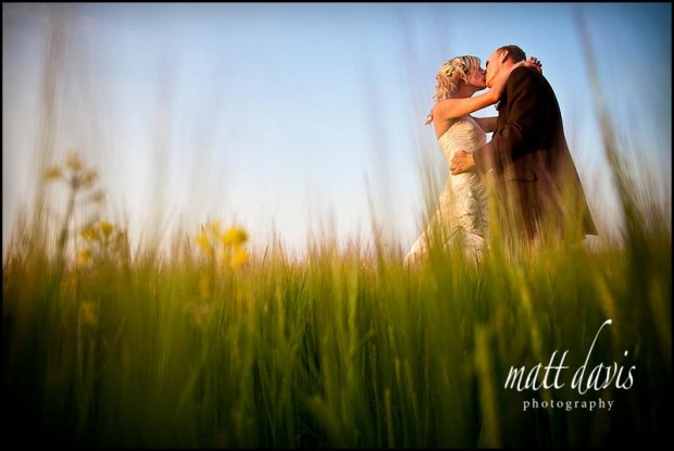 Kingscote Barn wedding couple photo