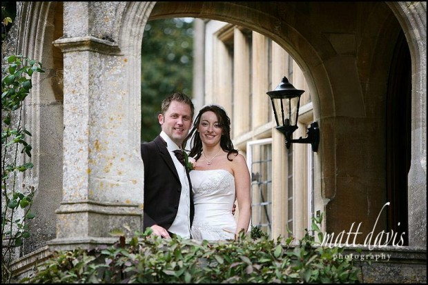 Lower slaughter manor wedding photo