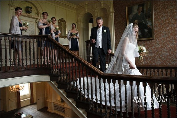 inside ardington house wedding photo