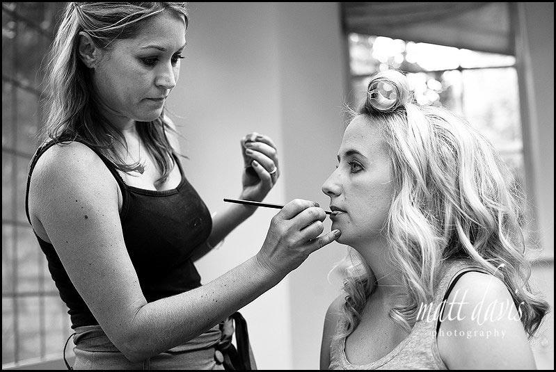 Wedding make-up at Barsley House