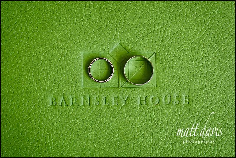 Wedding rings at Barnsley House
