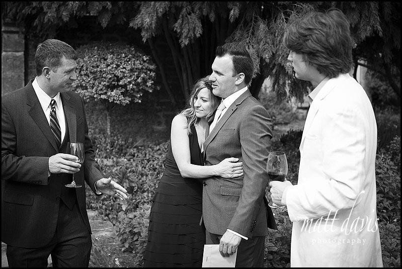 wedding guests at Barnsley House
