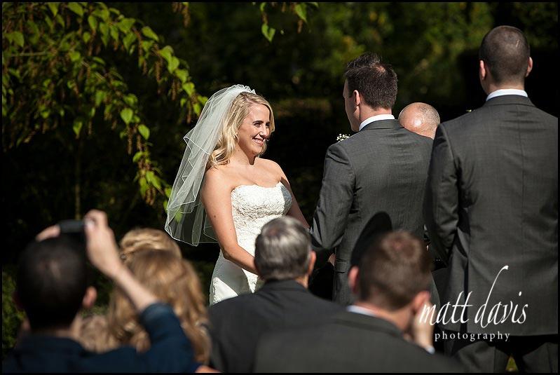 Barnsley House outdoor wedding photo