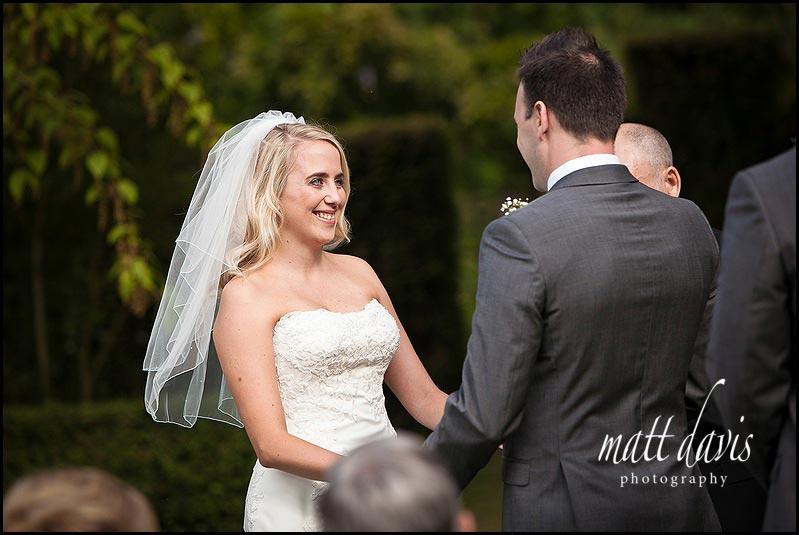 outdoor wedding at Barnsley House