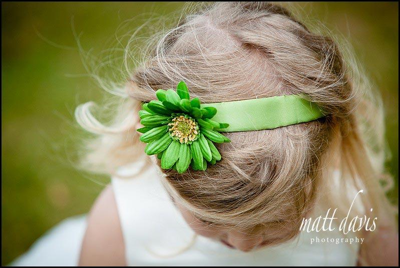 Green bridesmaid headband