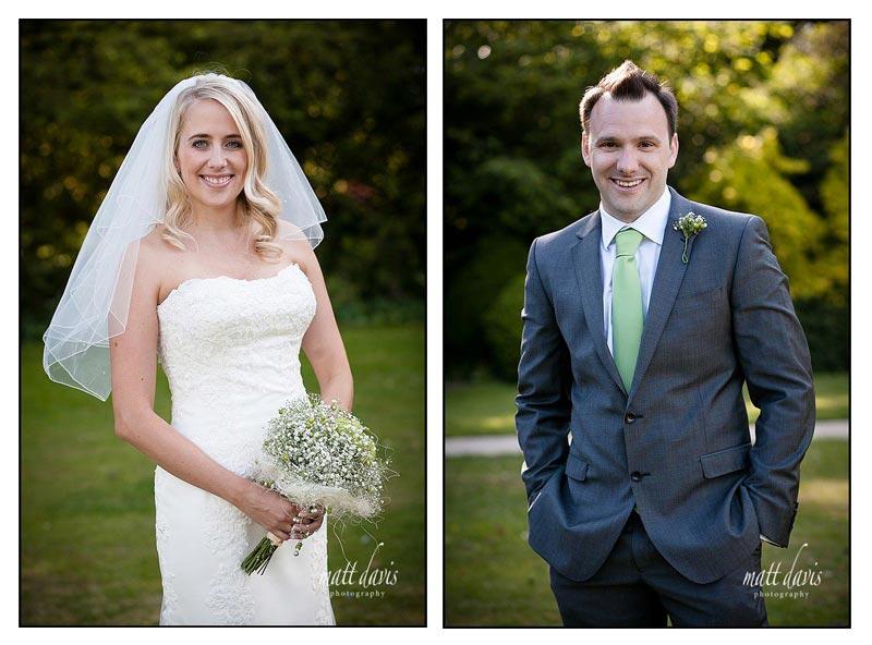 Bride and Groom at Barnsley House wedding