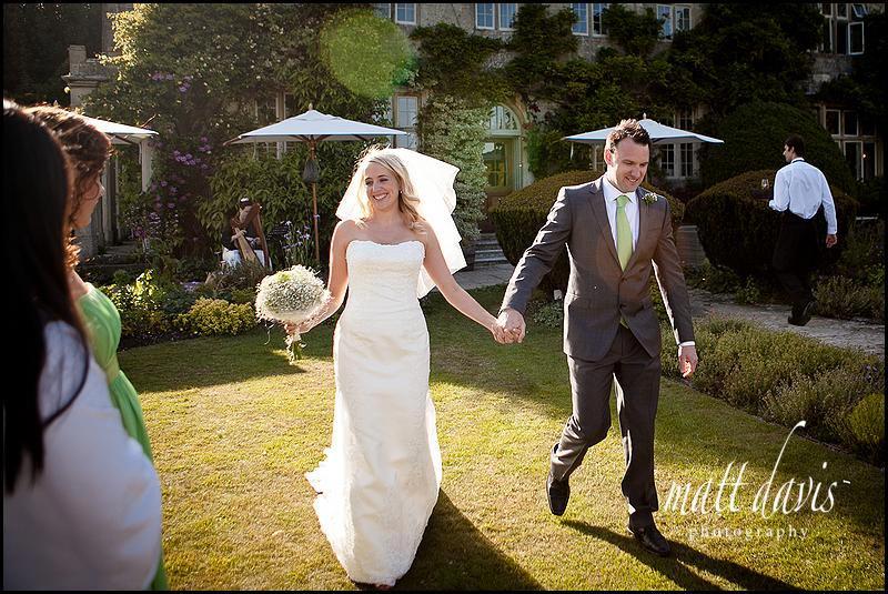 wedding reception at Barnsley house