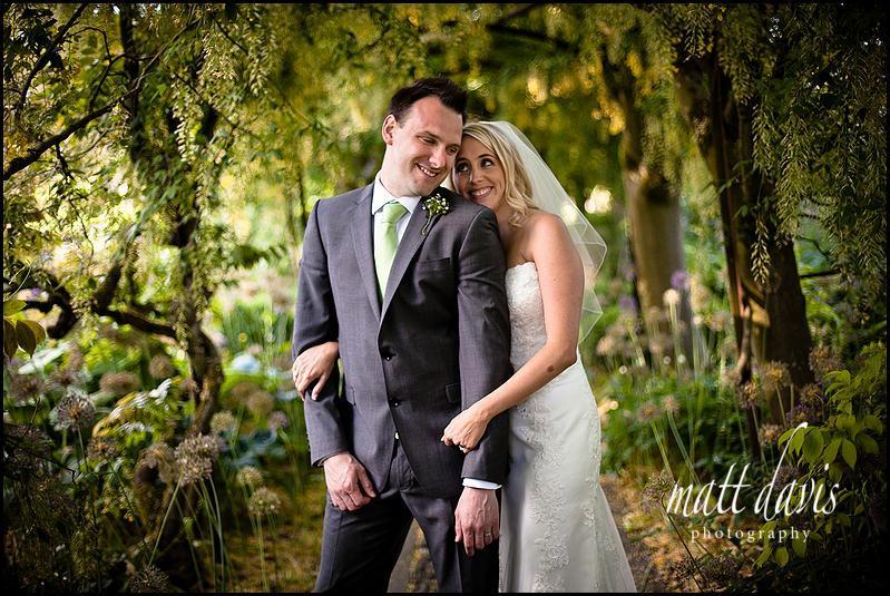 Barnsley House wedding photography of bride and groom