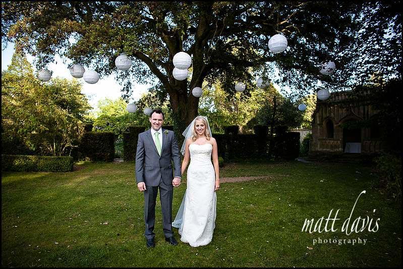 Barnsley House wedding photography outside