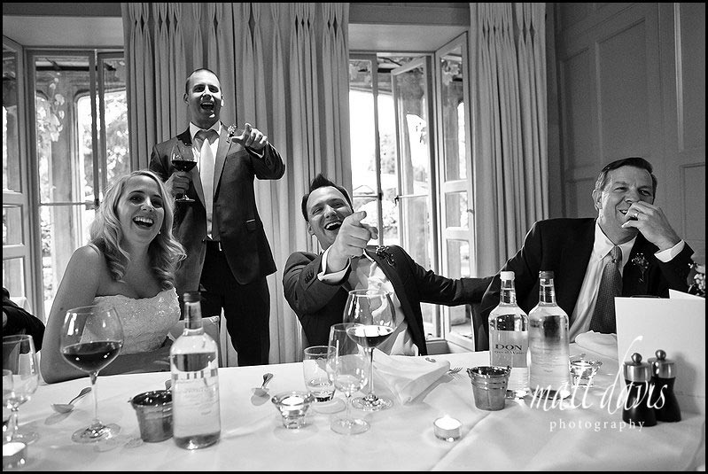 Barnsley House wedding photography during speeches