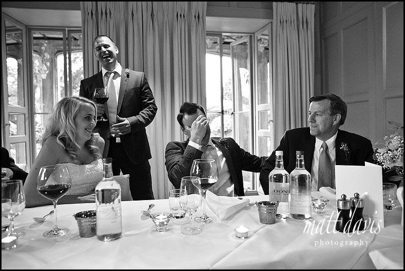 Barnsley House wedding photos of speeches