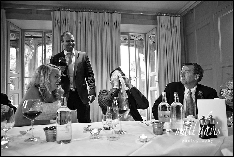 Barnsley House wedding photography of speeches