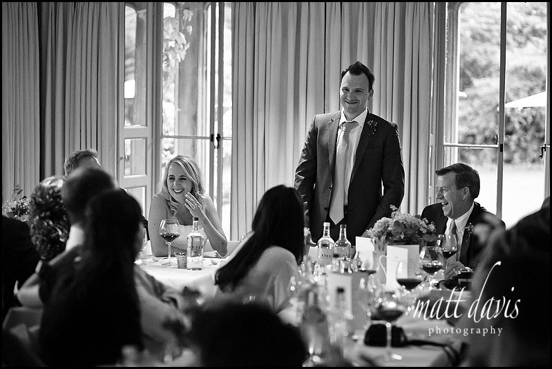 Wedding speeches at Barnsley House