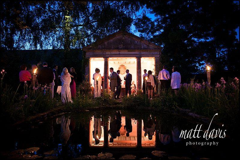 Barnsley House wedding at night