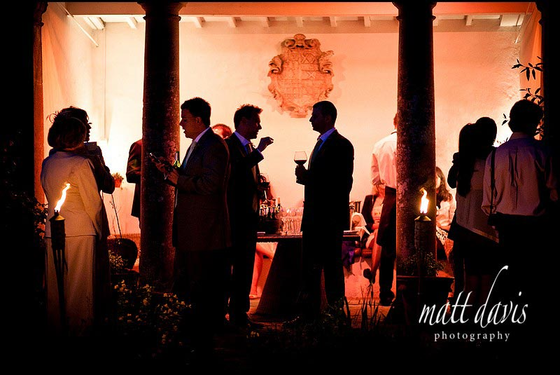 Barnsley House wedding during the evening