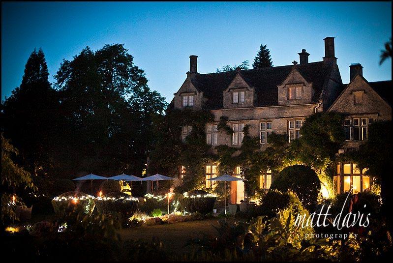 Barnsley House wedding photography at dusk