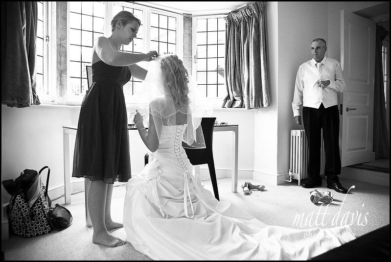 Barnsley House wedding photos in bridal suite