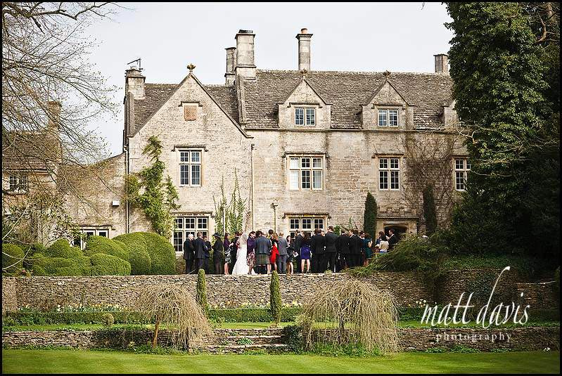 Barnsley House wedding photo including guests
