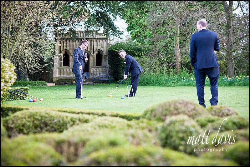 Barnsley House wedding drinks reception photos
