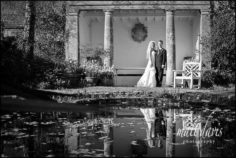 Barnsley House wedding photos near pond