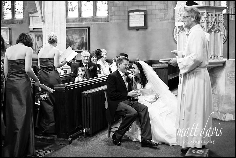 Berkeley Castle wedding photos at the church