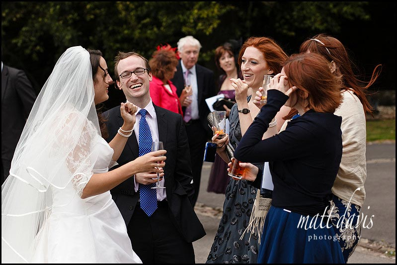 wedding guests at Berkeley Castle