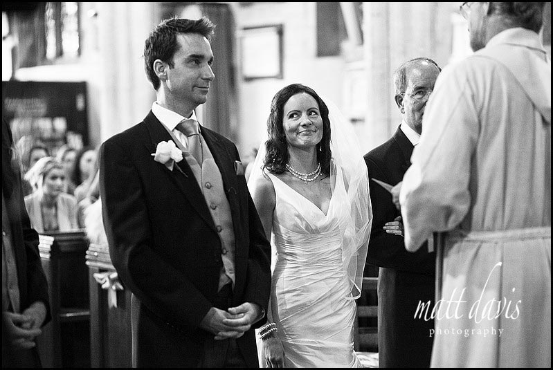 Bride and groom in Berkeley Church wedding photos