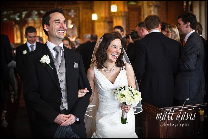 Berkeley Castle wedding photos of couple at church