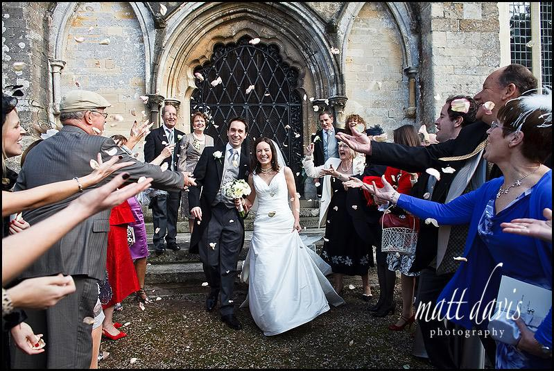 Berkeley Castle wedding confetti