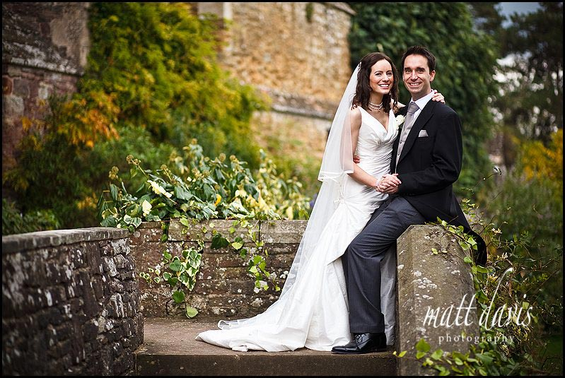 Berkeley Castle wedding photo of bride and groom