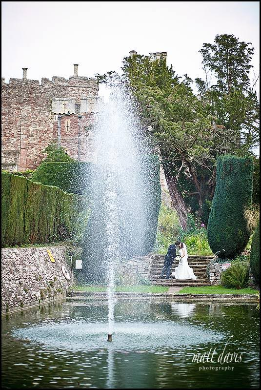 Berkeley Castle fountain and pond