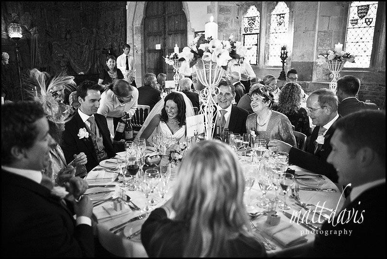 Tables in Berkeley Castle for wedding party
