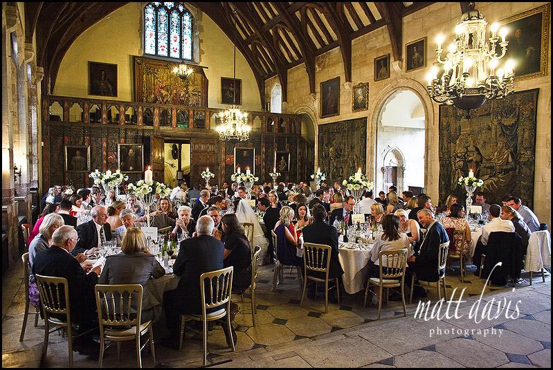 Berkeley Castle set for the wedding breakfast