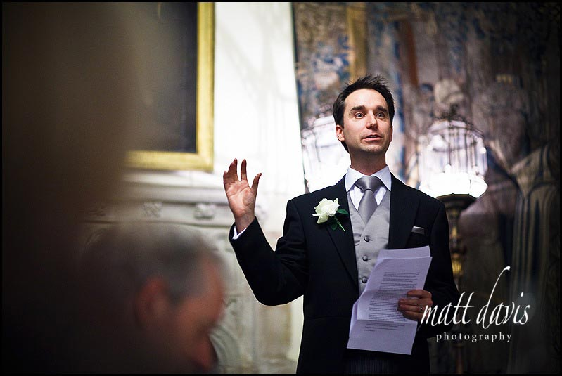 Grooms speech at Berkeley Castle