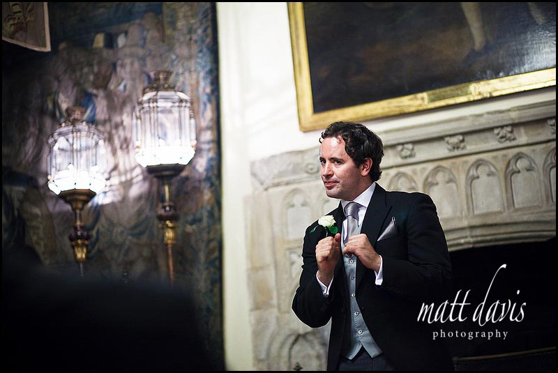 Best mans speech at Berkeley Castle