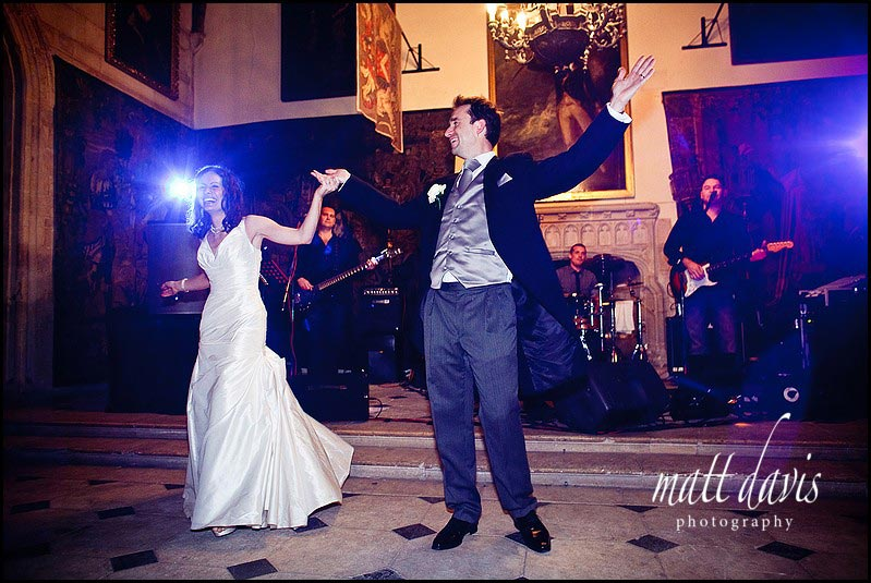 Berkeley Castle wedding photos of first dance
