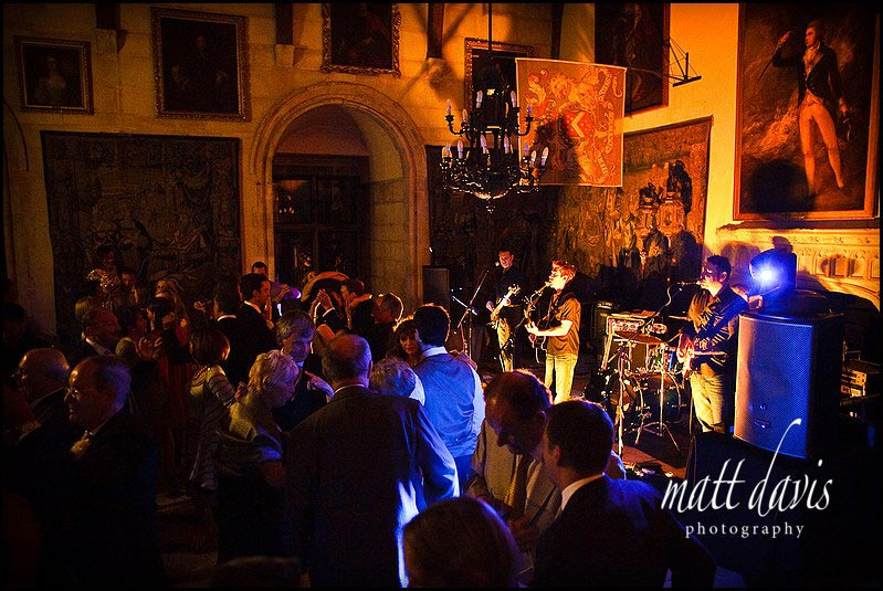Wedding band at Berkeley Castle
