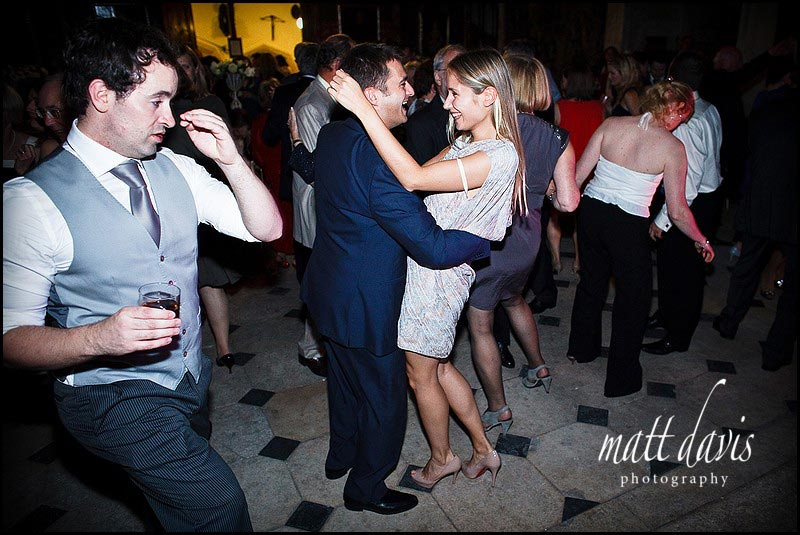 Guests on dance floor at Berkeley Castle