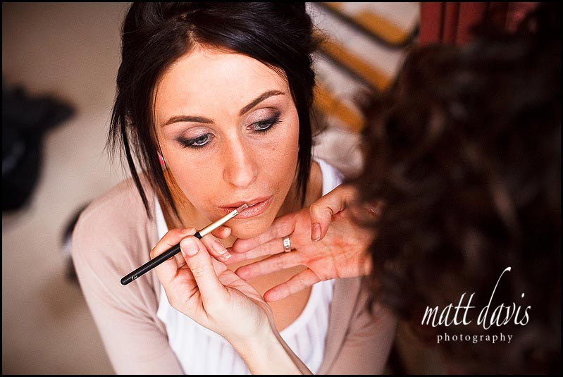 Bibury Court wedding make-up photos