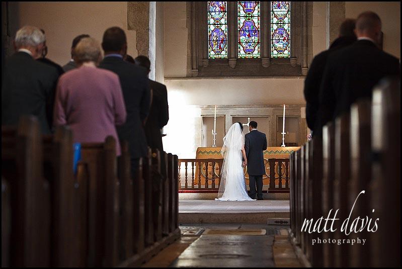 Bibury Church wedding photos inside
