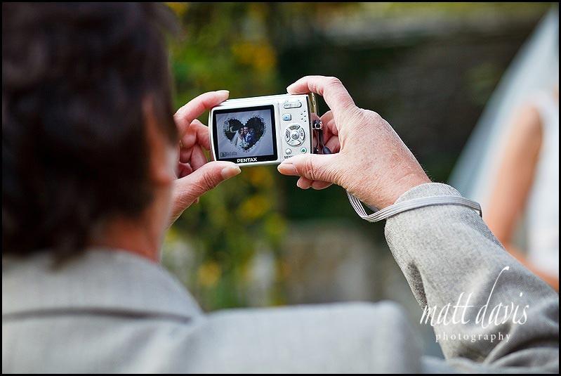 Heart shaped wedding photo