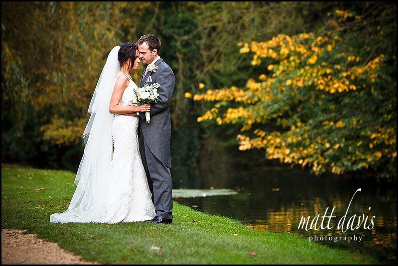 Bibury Court wedding photos near the river