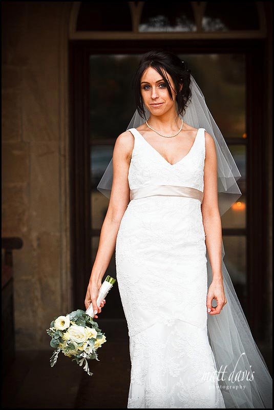bridal portrait at Bibury Court