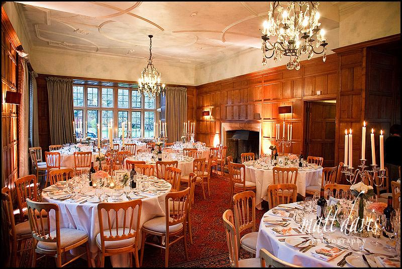 Inside Bibury Court set for wedding breakfast