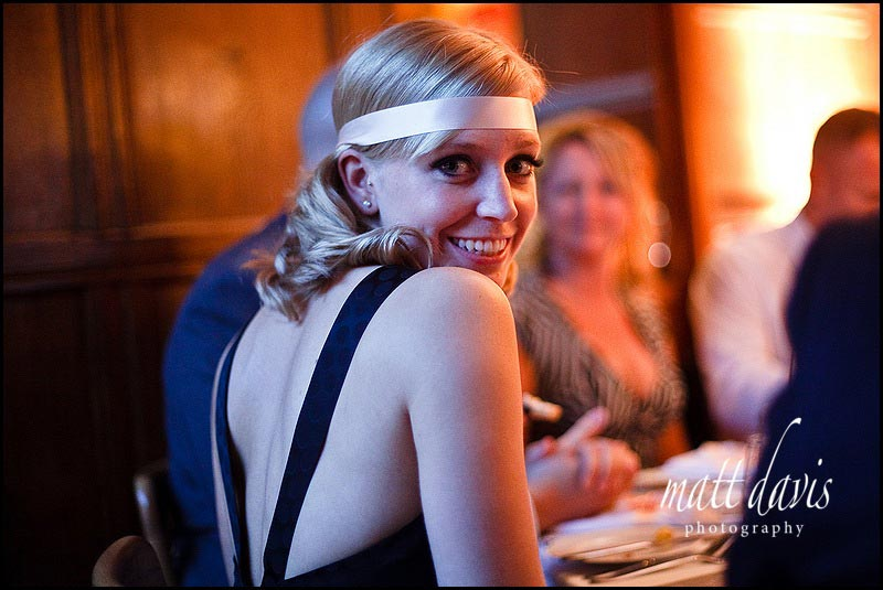 wedding guests with headband