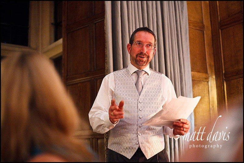 Bibury Court wedding photos of speeches